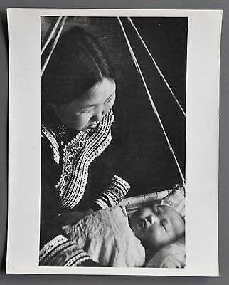 Sovfoto est. 1932 Silver Gelatin Photo 20x25 Siberia Mother & Child Russia 1955