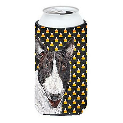 Bull Terrier Halloween Candy Corn Tall Boy bottle sleeve Hugger