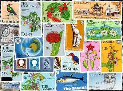 GAMBIE - THE GAMBIA collections 10 à 300 timbres différents