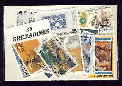 Grenadines 25 timbres différents