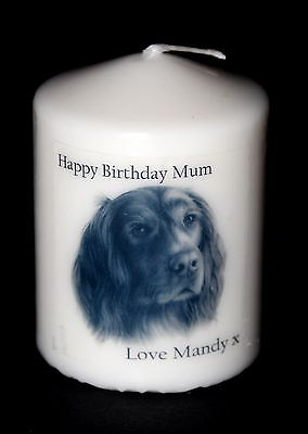 Red Setter personalised birthday candle gift, with own message #7