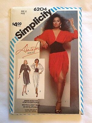 Simplicity Diana Ross Sewing Pattern 6204 Size 8 Uncut