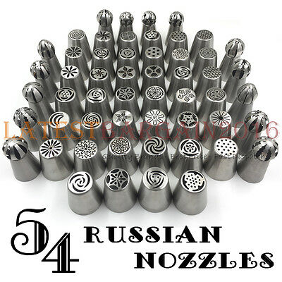 Russian Nozzles Flower Icing Piping Pastry Tulips Cake Decor DIY Sphere Ball UK