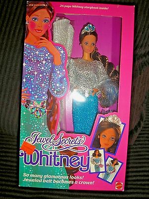 Jewel Secrets Whitney Doll Steffie Face 1986 #3179 NRFB W/ 24 Page Storybook
