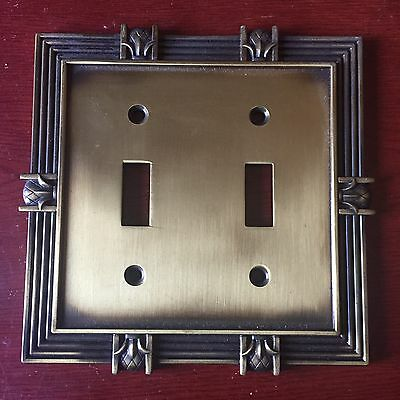 New Solid Brass  Double LIGHT SWITCH COVER PLATE