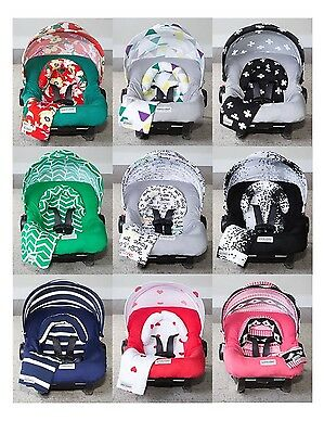 WHOLE CABOODLE CarSeat Canopy 5pc Set JERSEY STRETCH Baby Car Seat Cover New!