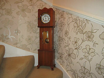 Vintage Stunning Small Grandfather Chiming Clock