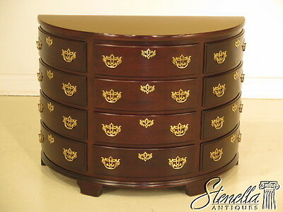 38222B: MADISON SQUARE 1/2 Round Mahogany Chippendale Chest or Commode