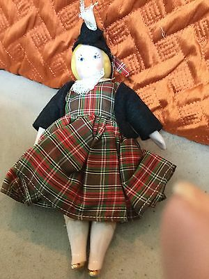 "Ruth Gibbs Scottish Costume Pink China 7.5""  1950s"