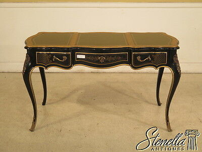 28148E:  DREXEL Chinoiserie Decorated Leather Top Writing Desk