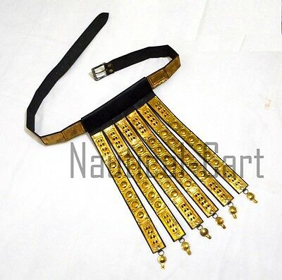 Leather & Brass Roman Legionnaire Apron Belt Collectible Roman Armor Belt