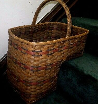 Fancy Stair Basket L Shaped w/ Lovely Carry Handle Useful & Beautiful!