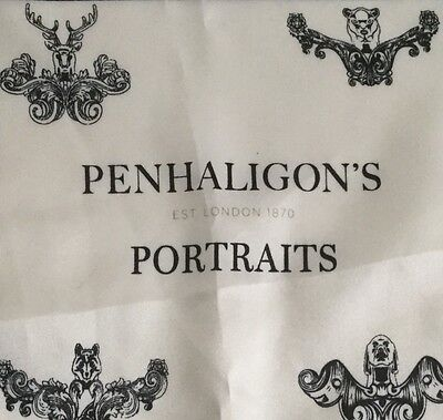 New/unused Penhaligon's Portraits Scented Silky Printed Handkerchief