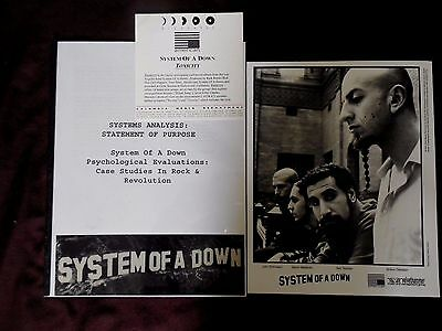 System Of A Down press kit 8x10 photo 7 pages info sheet