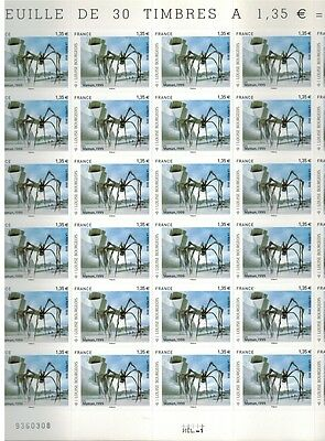 """2010/adhesif/feuille De 30 Timbres""""maman.araignee-Louise Bourgeois*y/t.471"""