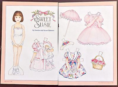 SWEET SUSIE Paper Doll, Mag. PD. 1996, by Sandra & Susan Wakeen