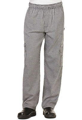 Dickies Mens Cargo Pocket Chef Pant Houndstooth DC10 HDTH  FREE SHIP!