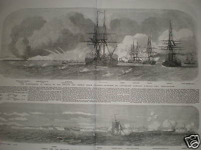 Bombardment of Odessa Ukraine Crimea 1854 prints