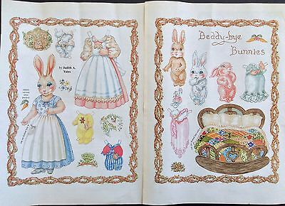 Beddy-bye Bunnies Paper Doll, 1987, by Judith Yates, Mag. PD