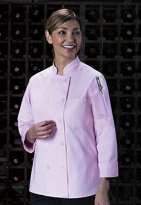 Dickies Women's Classic Chef Coat Pink  DC414 PINK FREE SHIP!