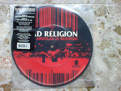 """BAD RELIGION - LOS ANGELES IS BURNING - PICTURE 7"""" 2004 RARE EUROPE press MINT!"""
