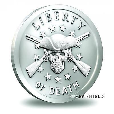 Silver Shield - 2014 Liberty or Death - 1 oz .999 Silver Bullion Round / Coin