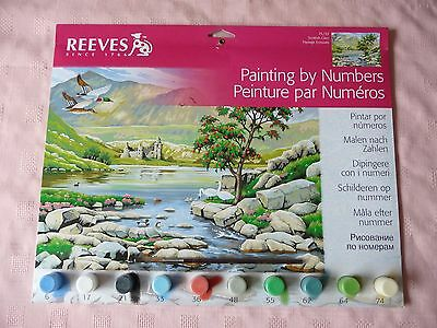 REEVES SENIOR PAINT BY NUMBERS (LARGE 400 x 300mm) SCOTTISH GLEN PL/33
