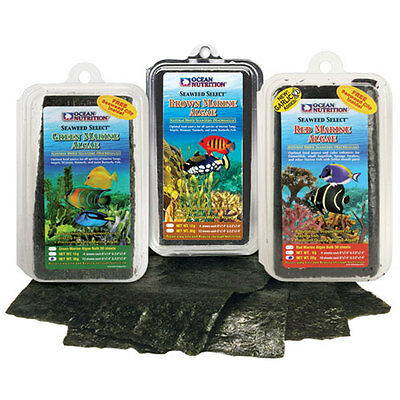 Ocean Nutrition Seaweed 8g 12g 30g Red Green Brown Nori Aquarium Fish Tank Food