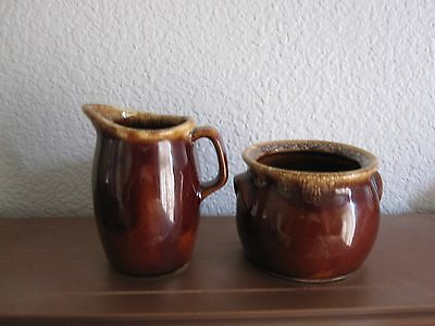 Hull Oven Proof USA - Brown Drip ware - Bean Pot - Pitcher