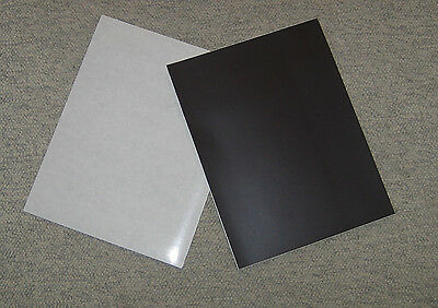 "* Six * Rubber  Magnet Sheets, Self Adhesive, 8 1/2""  X 11"" Inches"