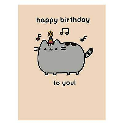 Pusheen Birthday Card Official Greetings Cute Crazy Cat Lady Gift Present Meme