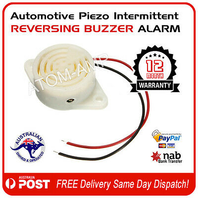 Reversing Warning Buzzer- Intermittent beep - suits 6V to 12V DC vehicles