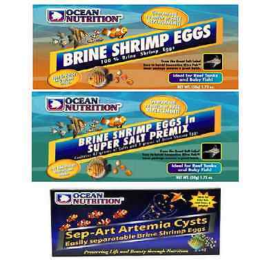 Ocean Nutrition Brine Shrimp Eggs 20g 30g 50g Fry Baby Fish Live Food Salt Tank
