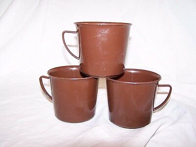 East German army cups, dated 1985. Three in lot.