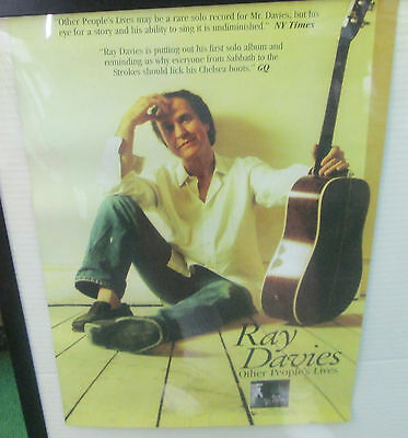Ray Davies Kinks Oop 2005 Promo Poster  Metal Rare Other Peoples Lives Double Si