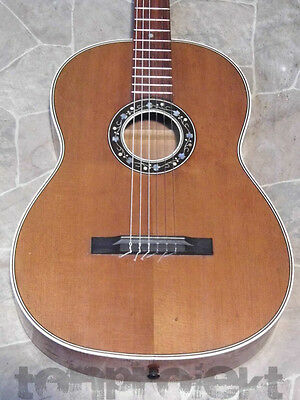 great large vintage Classical Guitar all solid Curly maple Guitar Germany ~1960