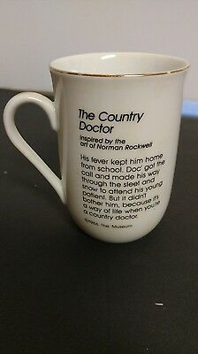 Norman Rockwell Country Doctor Collector Vintage Cup Mug 1986 Rockwell Museum