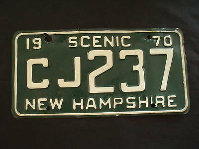 1970 New Hampshire License Plate  CJ237