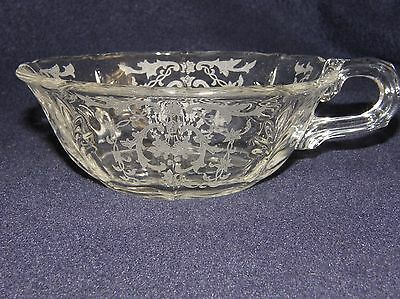 "Elegant Fostoria Glass Company Navarre 5"" Footed Handled #2496 Bowl-Clear/Crysta"