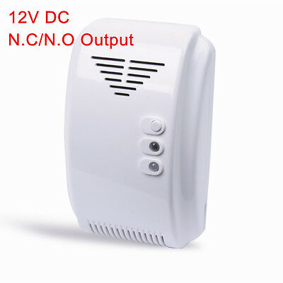 2x 85dB Combustible Natural Gas Detector LPG LNG Leak Alarm with NC NO Relay