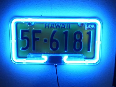 TWO! PlasmaGlow 10120 Blue Neon License Plate Frame