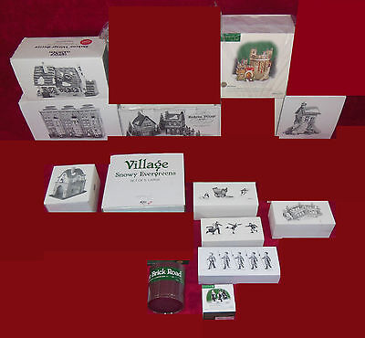 Dept 56 Dickens Village Collection #5, Qty 16 Buildings & Accessories