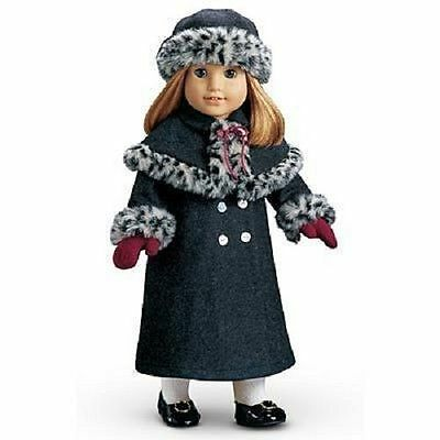 AMERICAN GIRL NELLIE'S HOLIDAY COAT, HAT, Mittens - NEW in Box
