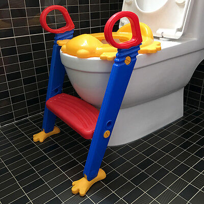 Step Ladder Toilet Trainer Chair Seat Potty Baby Training Stool Handles Daycare