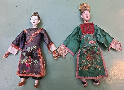 Couple Marionnettes Chinoise Chinese Pupett Poupees
