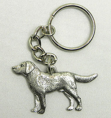 Labrador Retriever Lab Dog Keychain Keyring Harris Pewter MadeUSA Key Chain Ring