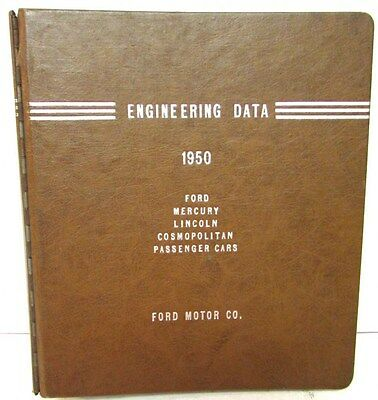 1950 Ford Lincoln Mercury Engineering Data Facts Book Features Specs Factory Use