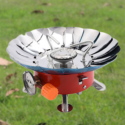 Mini Portable Foldable Lotus Camping Outdoor Picnic Cooking Windproof Gas Stove