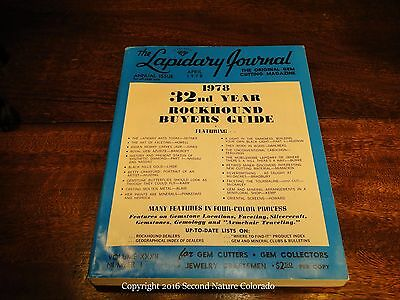 """April 1978 Edition of The Lapidary Journal - """"Jumbo Rockhound Guide"""" VG Con"""