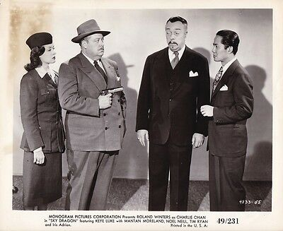 ROLAND WINTERS KEY LUKE Original Vintage 1949 THE SKY DRAGON Charlie Chan Photo